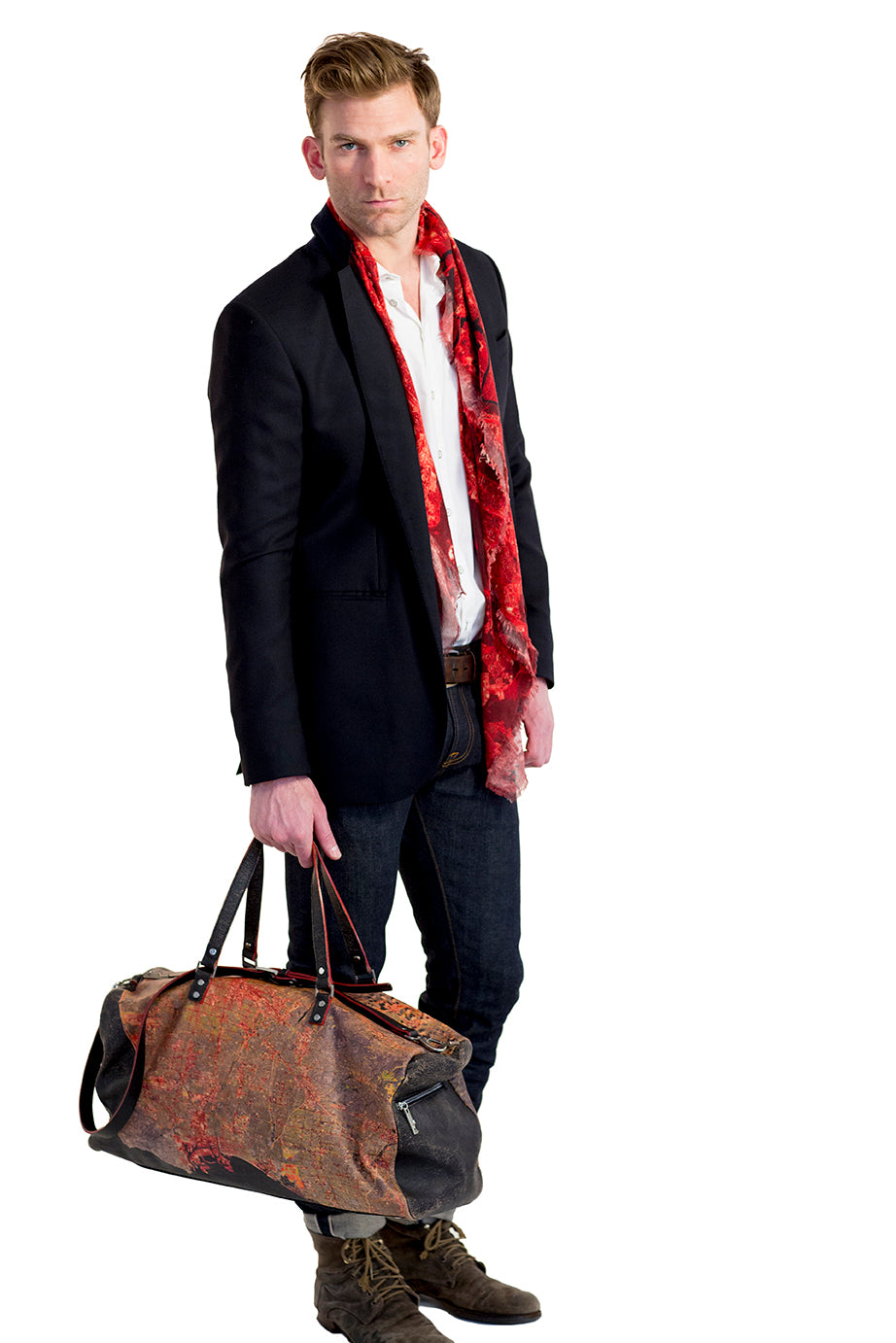 Los Angeles Leather Duffel Bag