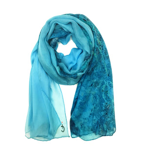 Marseille, France map print scarf in silk/chiffon blend. Perfect souvenir or gift for women and men.