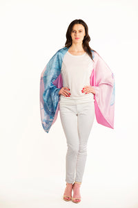 Miami Silk Sleeve Scarf, Shawl, Top,