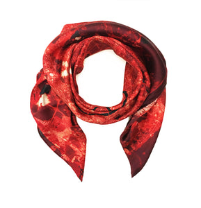 Moscow, Russia map print scarf in satin/silk blend. Perfect gift or souvenir for women and men.