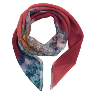 Mumbai, India map print scarf in silk/georgette blend. Perfect gift or souvenir for women and men.