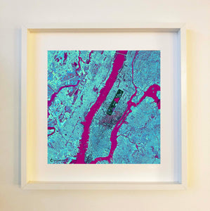 New York Blue Framed
