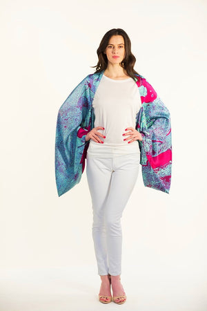 New York Silk Sleeve Scarf, Top, Shawl