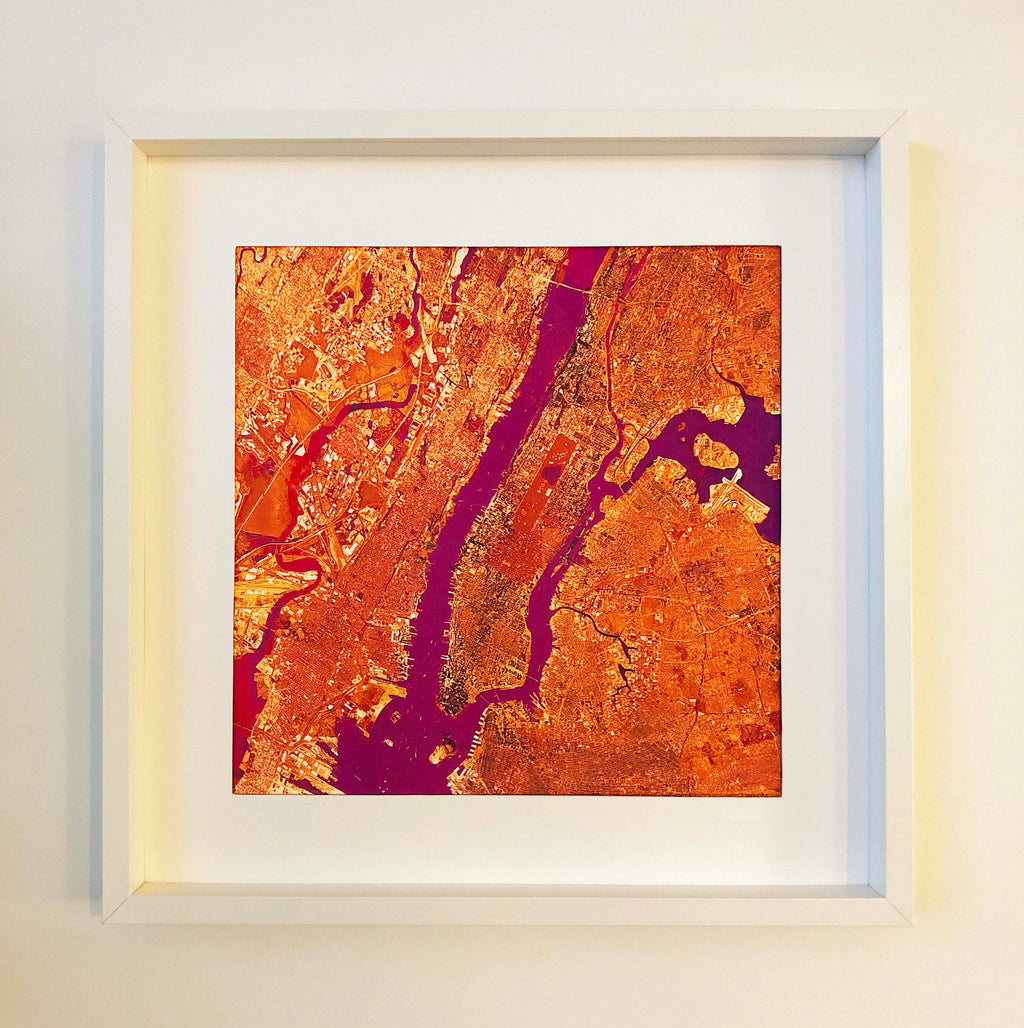New York Orange Framed