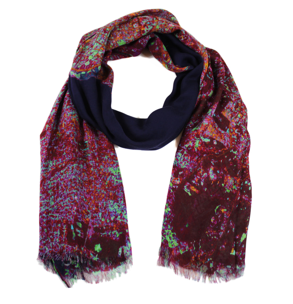Port Au Prince, Haiti map print scarf in modal/cashmere blend. Perfect souvenir or gift for women and men.