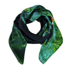 San Francisco, California green map print scarf in satin/silk blend. Perfect souvenir or gift for women and men