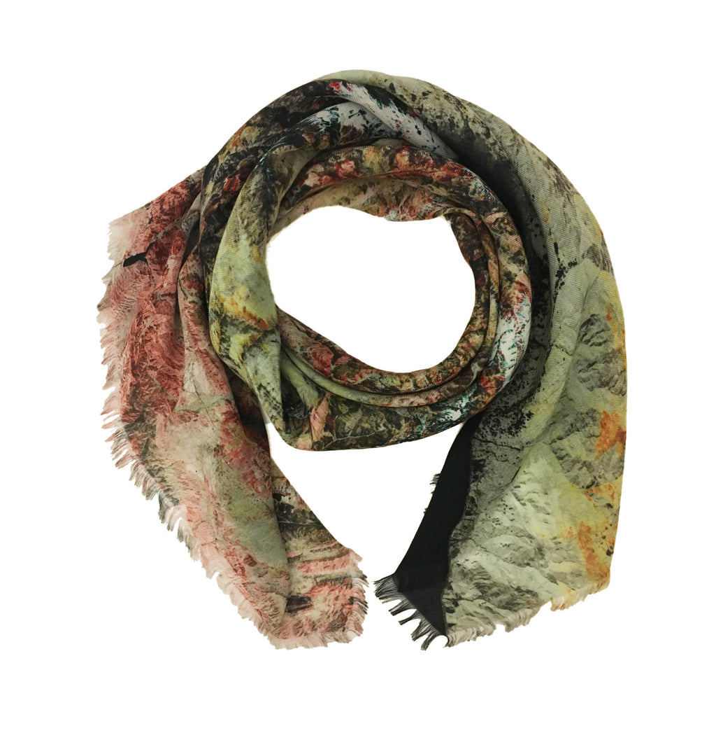 Tehran, Iran map print scarf in modal/cashmere blend. Perfect gift or souvenir for women and men.