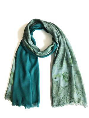 Tel Aviv, Israel map print scarf in modal/cashmere blend. Perfect souvenir or gift for men and women.