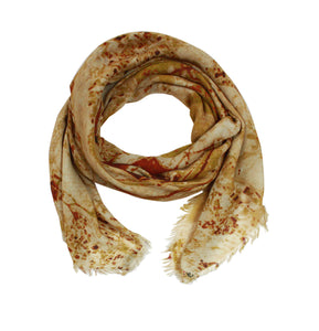 Jerusalem, Israel map print scarf in modal/cashmere blend. Perfect gift or souvenir for women and men.