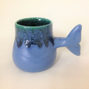 Whale Tail Mug 12 oz with Otter inside