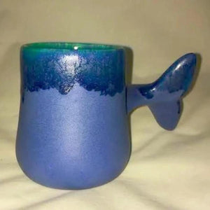 Whale Tail Mug 8 oz - Blue