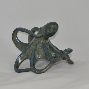 Octopus - Hidden Treasure - Antique Blue - Ceramic Sculpture
