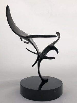 "Bronze Manta Sculpture - Joyful Life Series - ""Do Si Do"" 12"" tall"