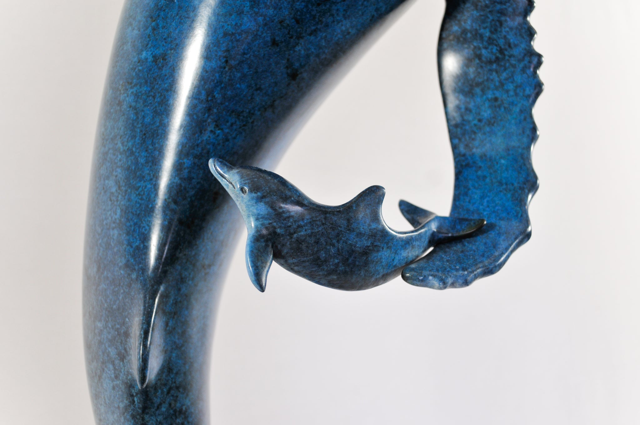 Bronze Sculpture - Dancing with Dolphins