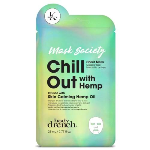 Body Drench Mask Society Chill Out With Hemp Sheet Mask - Totally Refreshed Steam and Spa