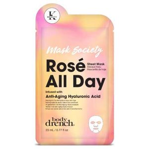Body Drench Mask Society Rosè All Day Sheet Mask - Totally Refreshed Steam and Spa