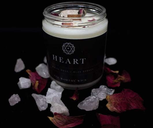 HEART CHAKRA CANDLE - Totally Refreshed Steam and Spa