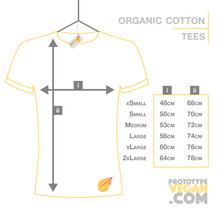 Prototype Vegan - Organic Cotton Tees - Size Guide