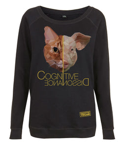 Prototype Vegan sweatshirt - Cat Lover - Women's Black