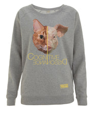 Prototype Vegan sweatshirt - Cat Lover - Women's Light Heather