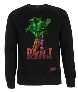 Prototype Vegan sweatshirt - Veggies Don't Scream - Unisex Black