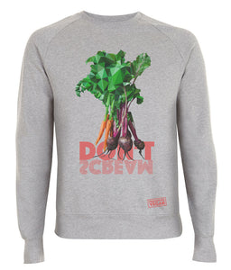 Prototype Vegan sweatshirt - Veggies Don't Scream - Unisex Light Heather