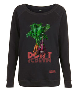 Prototype Vegan sweatshirt - Veggies Don't Scream - Women's Black