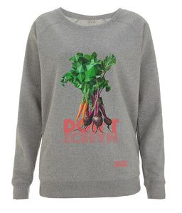 Prototype Vegan sweatshirt - Veggies Don't Scream - Women's Light Heather