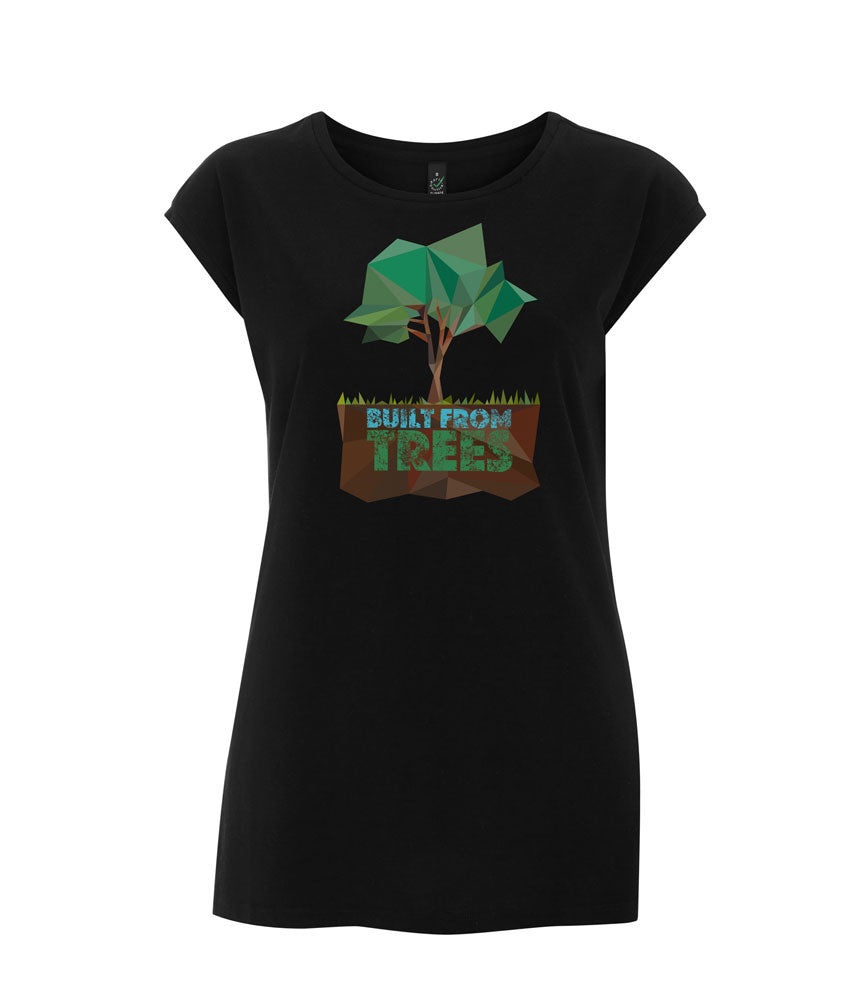 Prototype Vegan tee - Built From Trees - Womens Black
