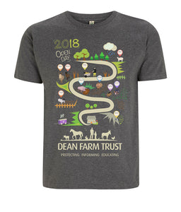 Prototype Vegan tee - Dean Farm Edition - Unisex Dark Heather