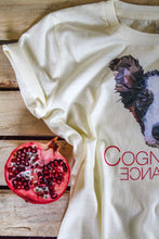 Prototype Vegan fitted tee - Dog Lover - Women's Ecru Pomegranate two