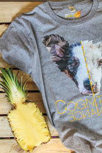 Prototype Vegan tee - Dog Lover - Unisex Melange Grey Pineapple