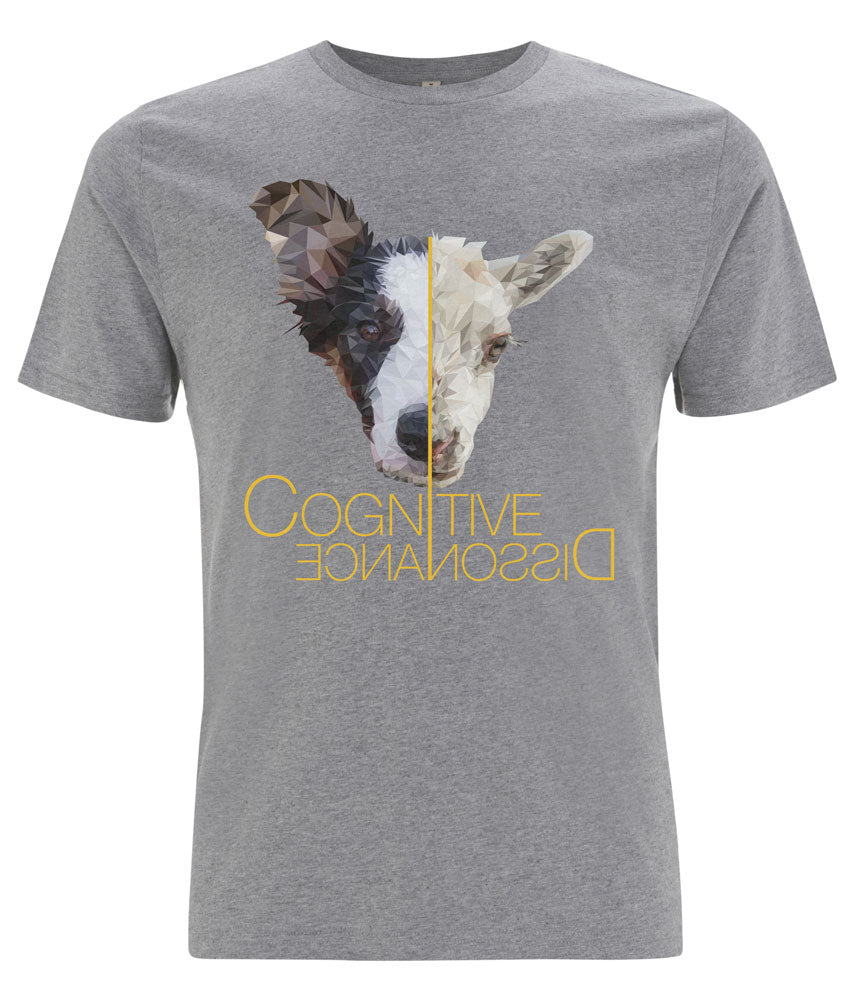 Prototype Vegan tee - Dog Lover - Unisex Melange Grey