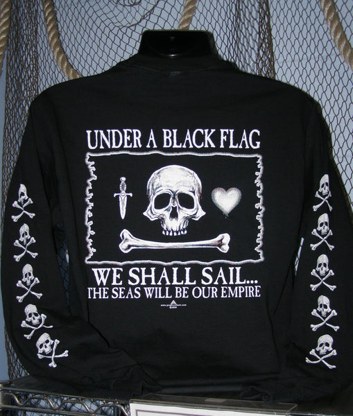 Pirate T-Shirt - Under a Black Flag LS