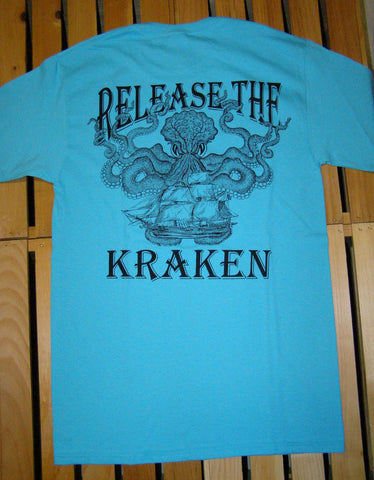 T-Shirt - Release the Kraken Scuba Blue