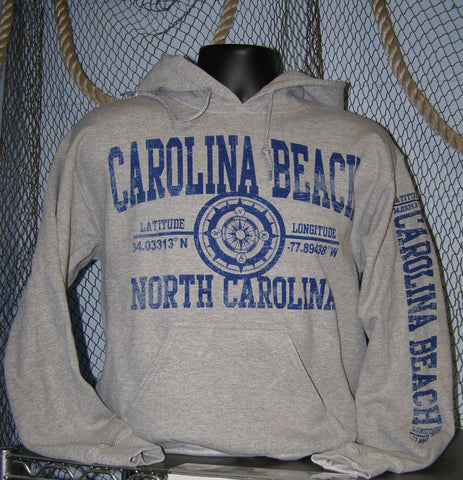 Hoodie - Carolina Beach Lat-Long