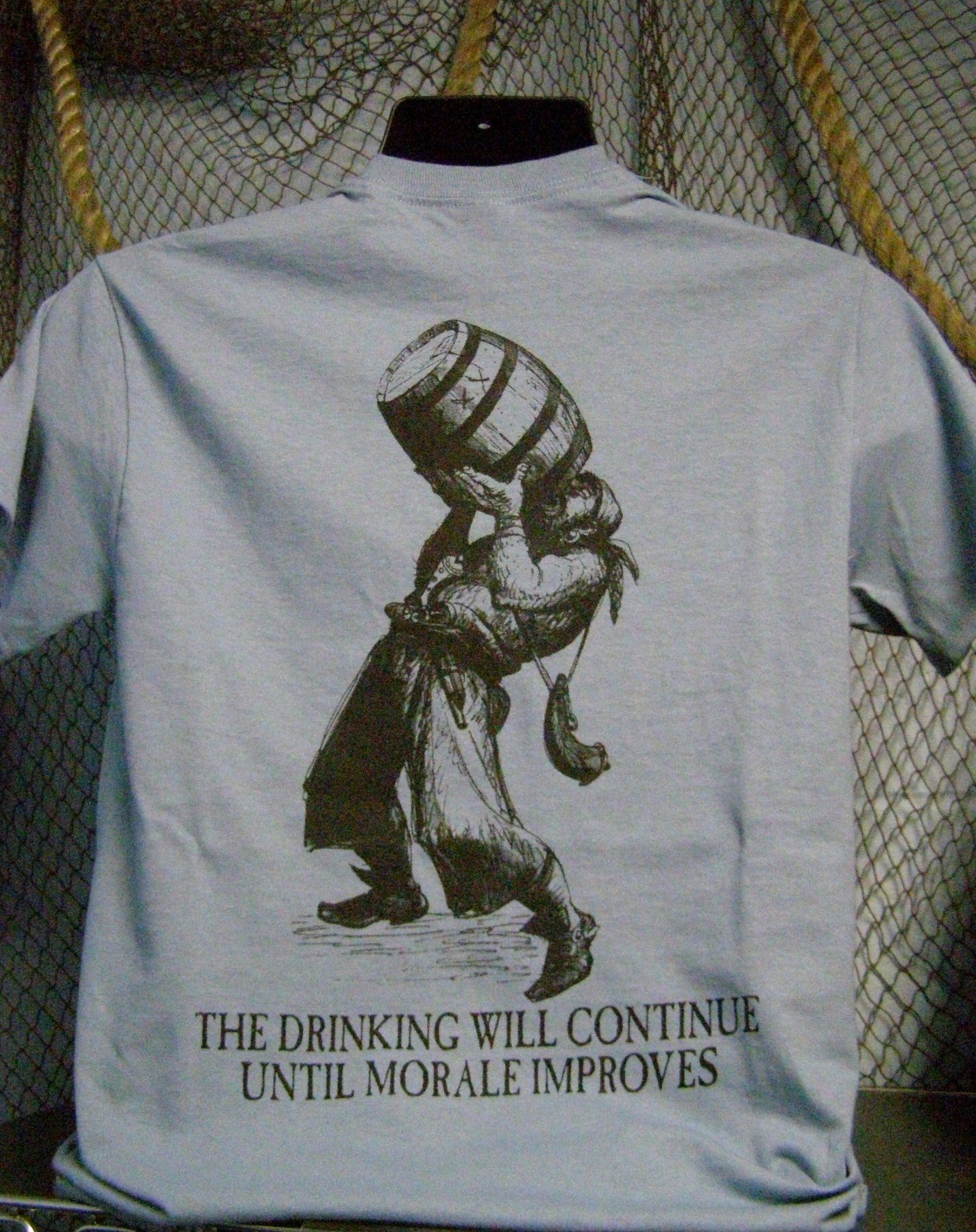 Pirate T-Shirt - Drinking Will Continue Until Morale Improves