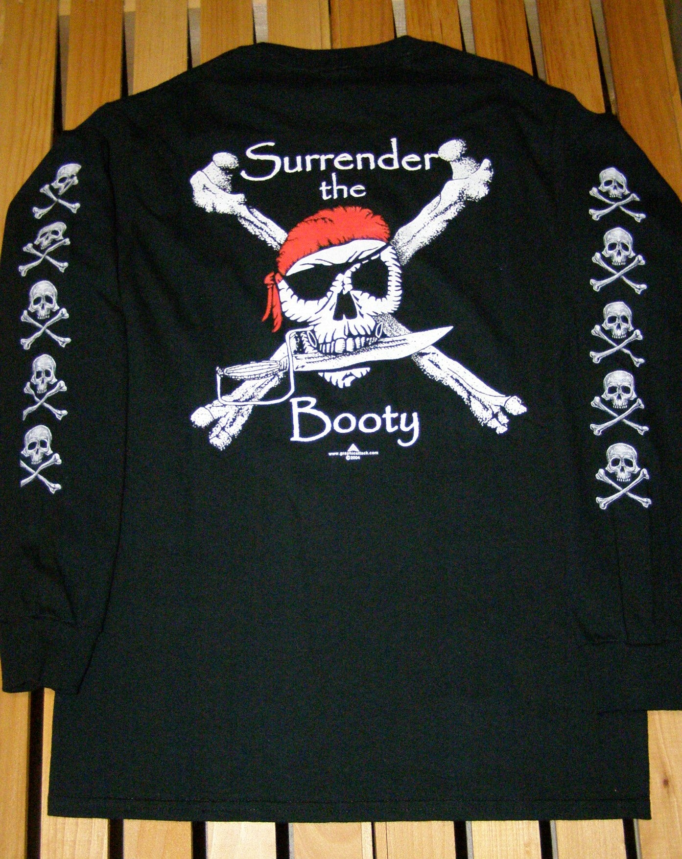 Pirate T-Shirt - Surrender the Booty LS