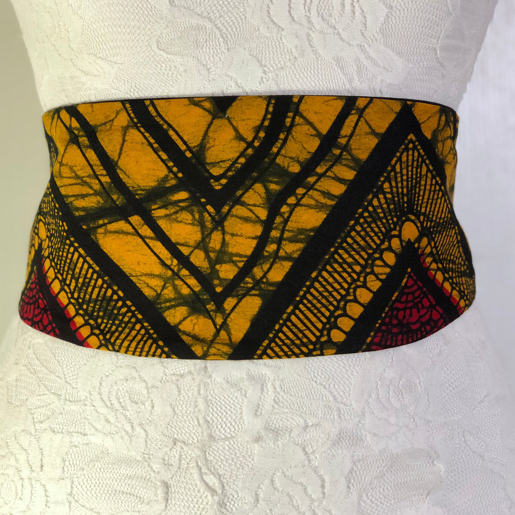 Msichana:Reversible Wrap Belt - black solid,Yellow Lightening