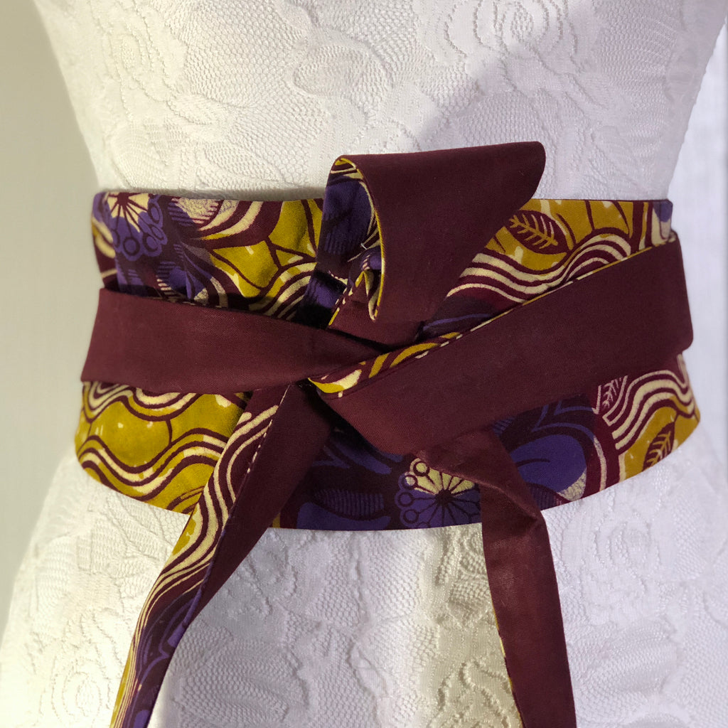 Msichana:Reversible Wrap Belt - maroon solid
