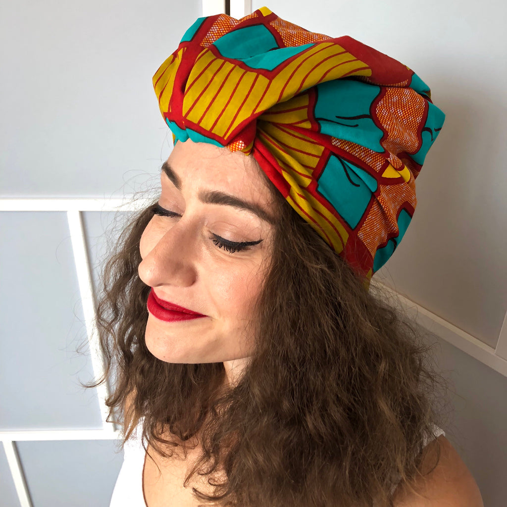 Msichana:Shawl /Headwrap,Terracotta