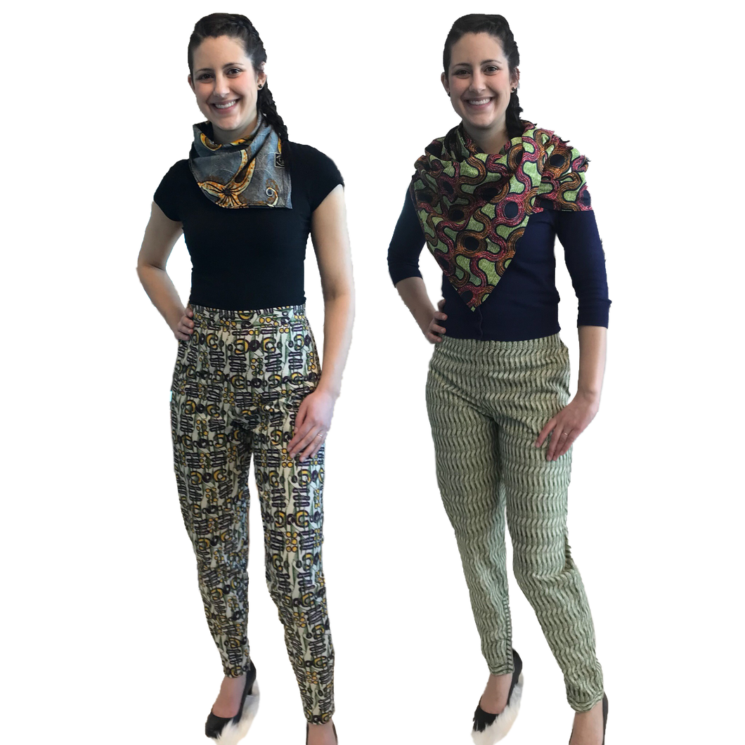 Double sided pants, reversible, 2 in 1 , capsule wardrobe , transitional piece. Ethical luxury