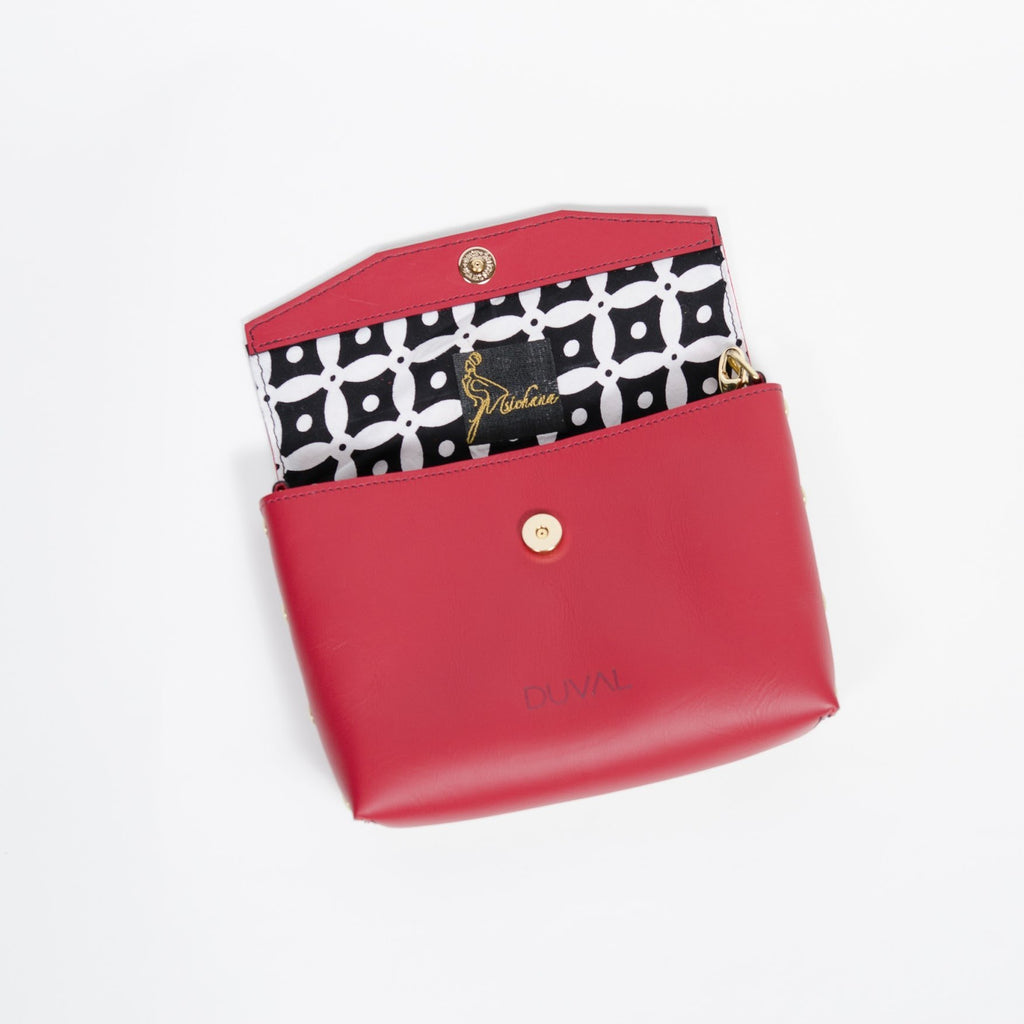 Msichana:Meraki Cross Body x Duval Red,Checkers