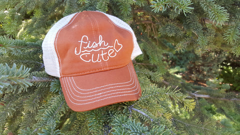 Burnt Orange Trucker Mesh Hat