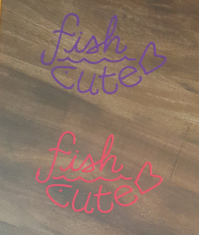 Fish Cute Vinyl Decals
