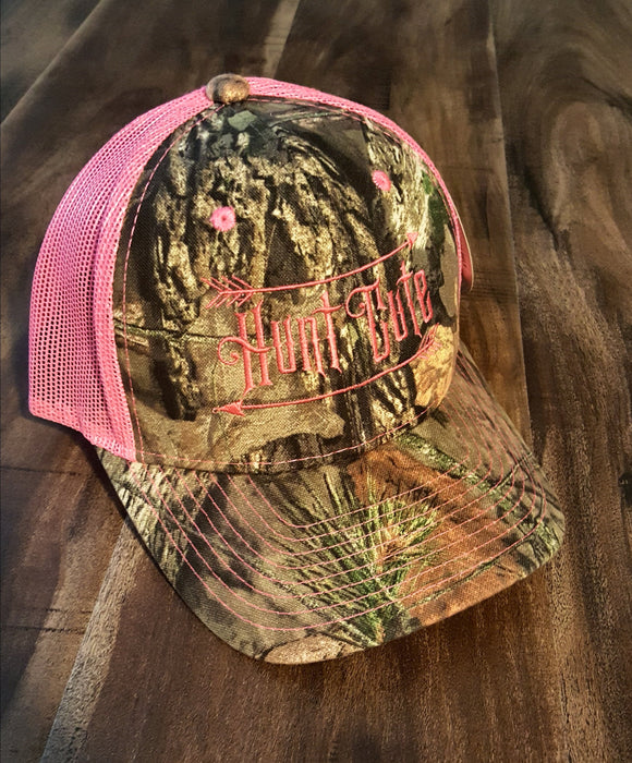 Mossy Oak Trucker Camo and Hot Pink Baseball Hat