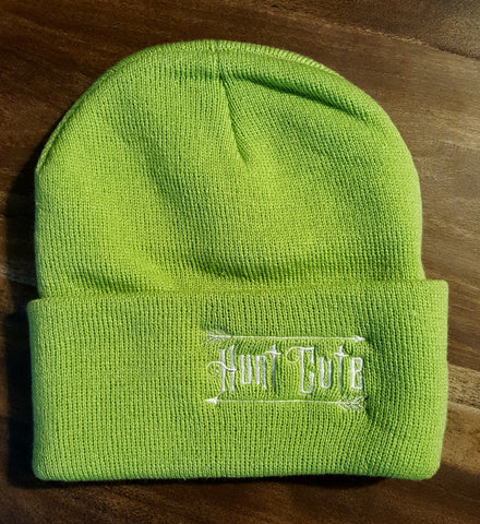 Light Green Knit Beanie Hunt Cute