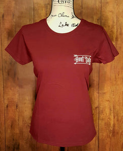 Maroon Double Sided Hunt Cute T-Shirt
