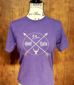 Youth Purple Heather Hunt Cute Shirt