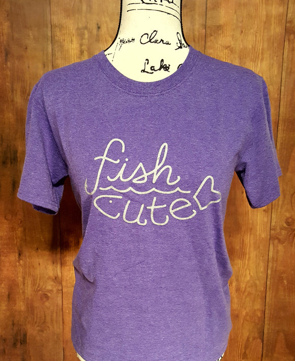 Youth Purple Heather Fish Cute Shirt